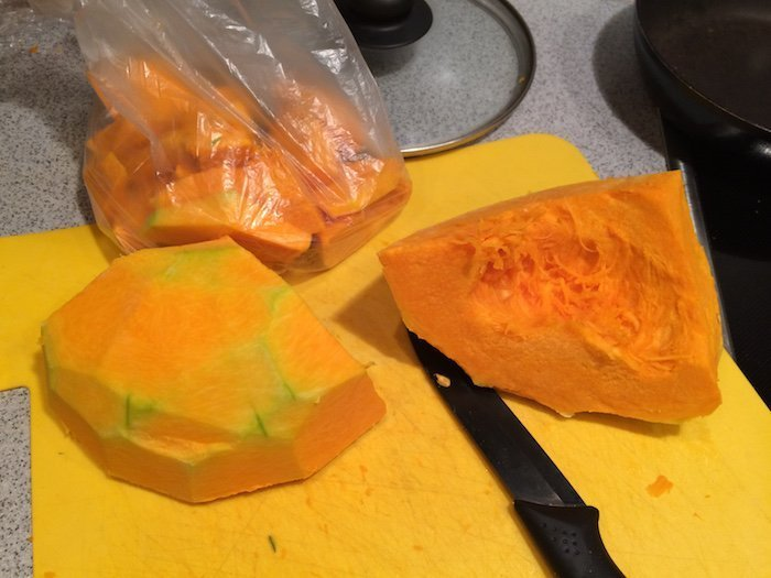 peeled pumpkin